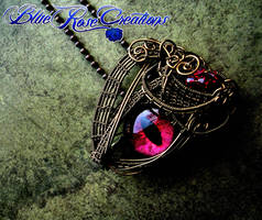 Of Blood, Bronze and Flame - Pendant Brooch by LadyPirotessa