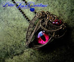 Of Blood, Bronze and Flame - Pendant Brooch