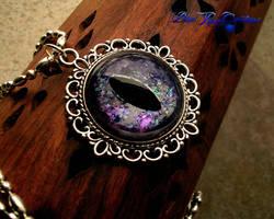 Rainbow Shatterings - Black Gray Violet Dragon Eye by LadyPirotessa
