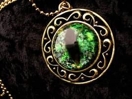 Prismatic Golden Royalty - Green Dragon Eye by LadyPirotessa
