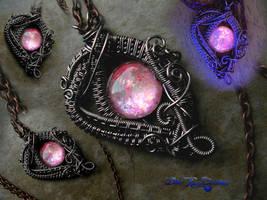 Pink Fairy Dream Drop - Purple Gunmetal by LadyPirotessa