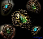 Medieval Crest - Colorshifting Brooch Pendant
