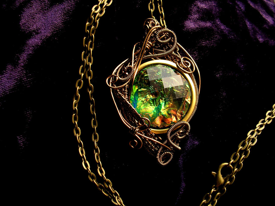 Spirit of the Forest - Wire Wrapped Pendant by LadyPirotessa