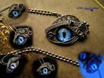 Storm, Sea and Sky Dragon Eye - Glow Pendant