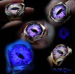 Purple Color Shifting Adjustable Dragon Eye Ring