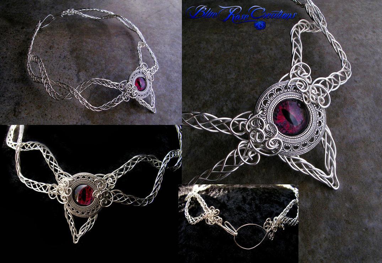 Custom - Celtic Dragon Eye Torc Tork Choker Wire by LadyPirotessa on ...