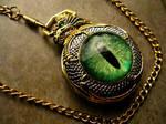 Custom - Dragon Slave Green Eye Pocket Watch