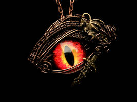 Smaug LotR Inspired Wire Wrapped Pendnant - Sting