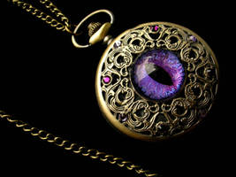 Violet Black Regal Pocket Watch by LadyPirotessa