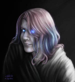 Fey OOTD Grayscale Color Pop Portrait - Kathleen