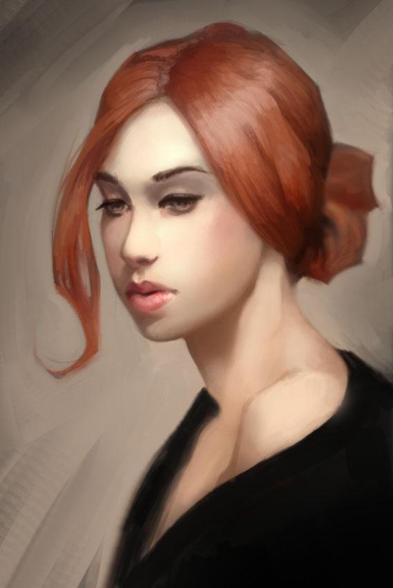 Redhead Study by JRettberg