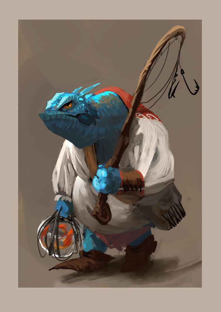 Lizard Fisherman by JRettberg