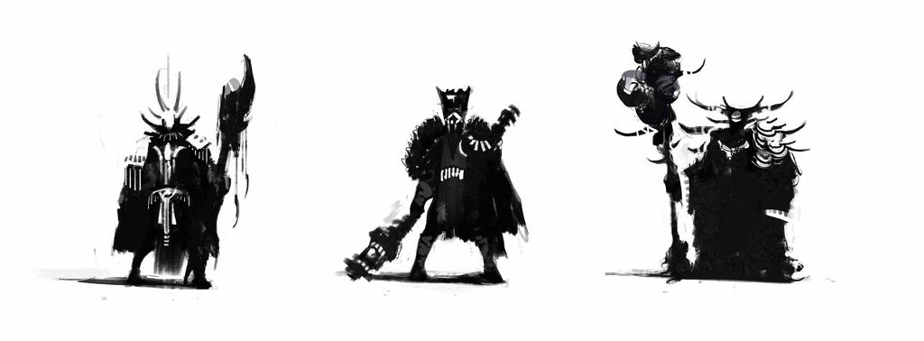 Witch doctor concepts by JRettberg