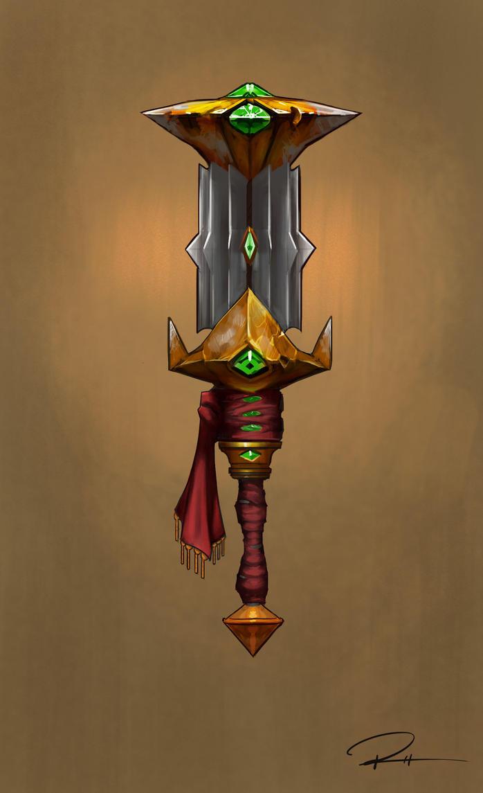 Blizzard-style mace design by JRettberg
