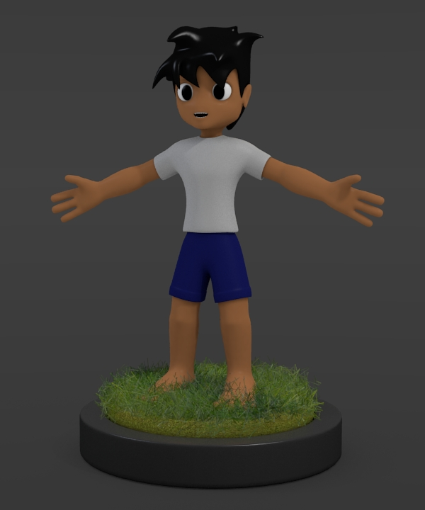 Blender Modeling A Cartoon Character : My first character blender by slykdrako on deviantart
