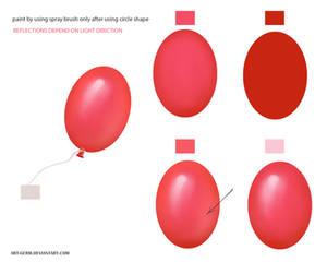 Tutorial Painting Real Balloon