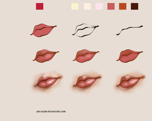 How To Paint Realistic Lips! by art-germ