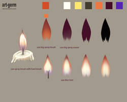 How To Paint Realistic Candle Fire!