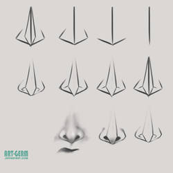 How To Draw Nose by art-germ