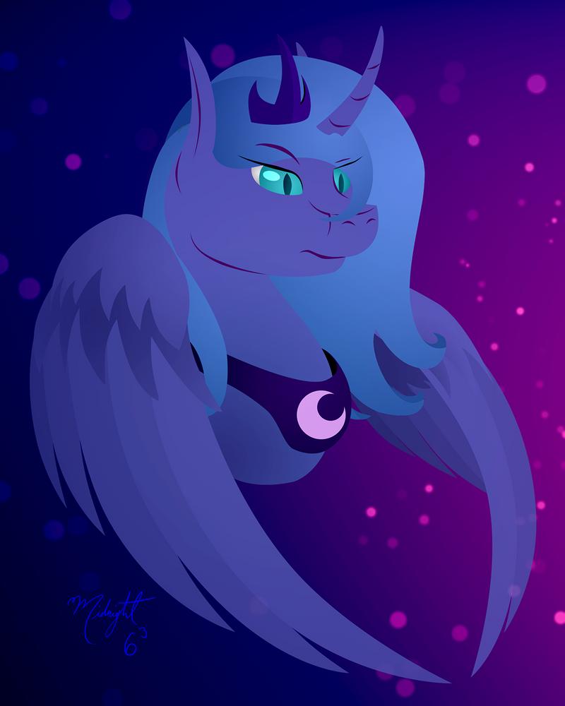 Nightmare Luna by Midnight6-6-6