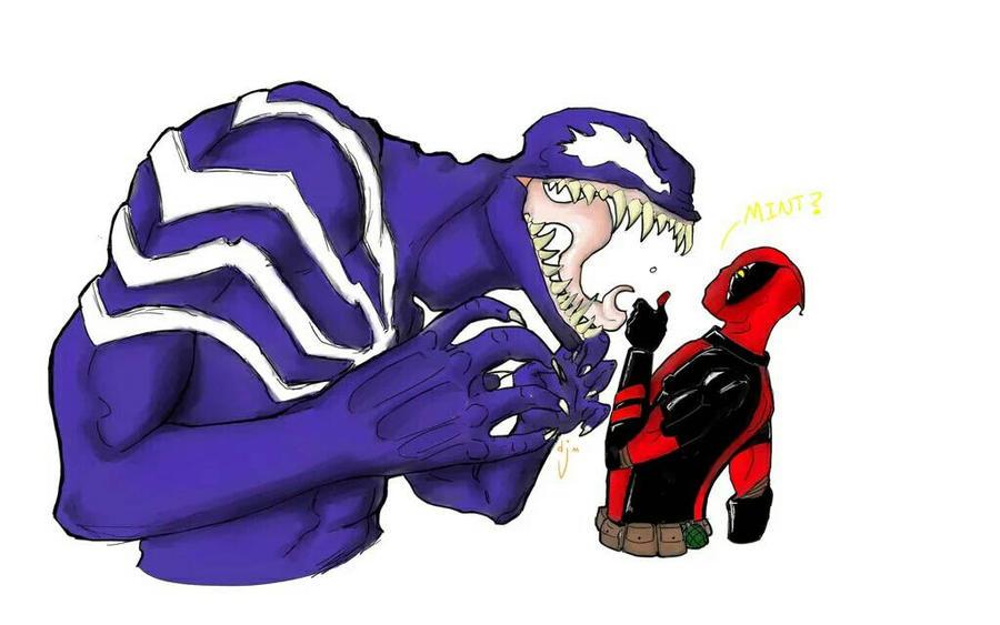 venom and deadpool by djm106