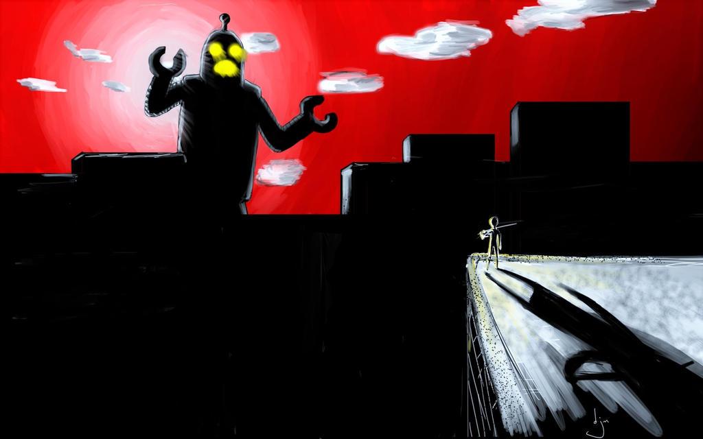 giant robot by djm106