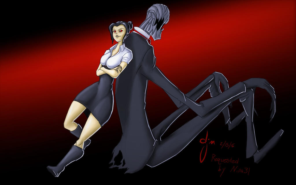 Naily And Slenderfather (requested by Nina31) by djm106