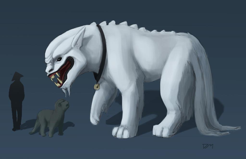 Imperial Guardian Lions: Yin by djm106