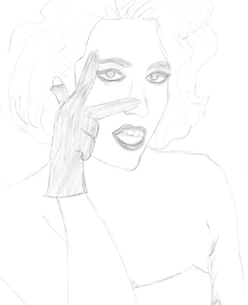 Line Drawing Lady : Lady gaga bad romance line art by isaacmonster on deviantart