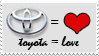 Toyota Equals Love Stamp by NinjaMaster13