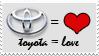 Toyota Equals Love Stamp by NinjaMaster13