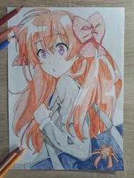 Sakura Chiyo - Gekkan Shoujo Nozaki-kun Drawing by Rena983