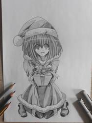 Karin Maaka (Chibi Vampire) Christmas Artwork by Rena983
