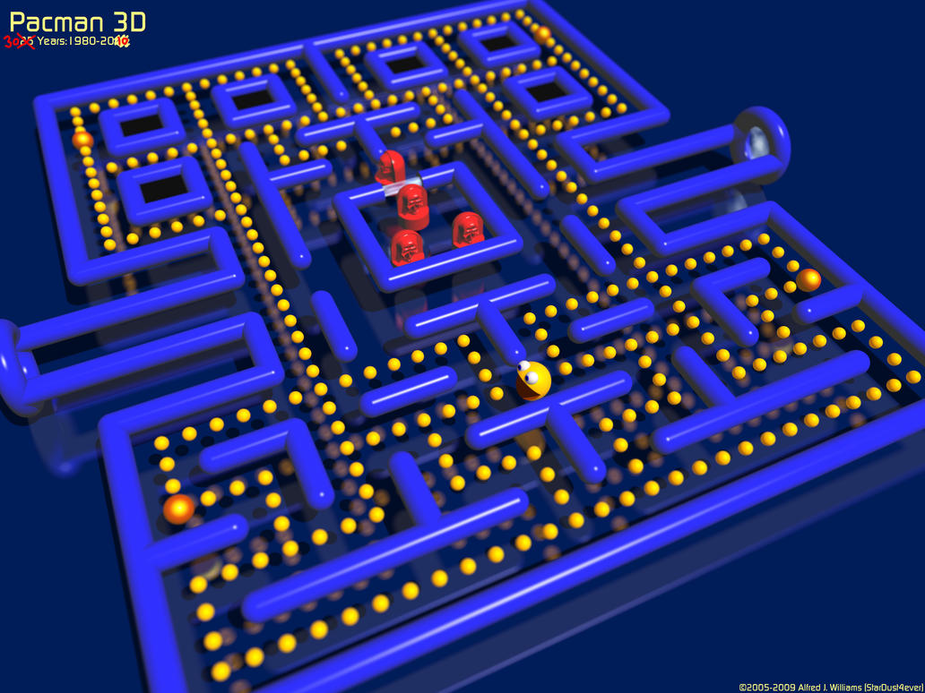 Pacman 3D: 25, now 30 Years by stardust4ever