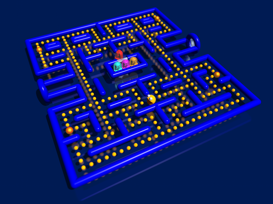 Pacman 3D by stardust4ever