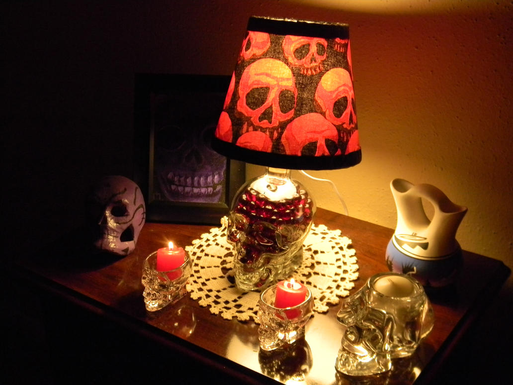 Skull Lamp for Paula by Kosmic-Stardust