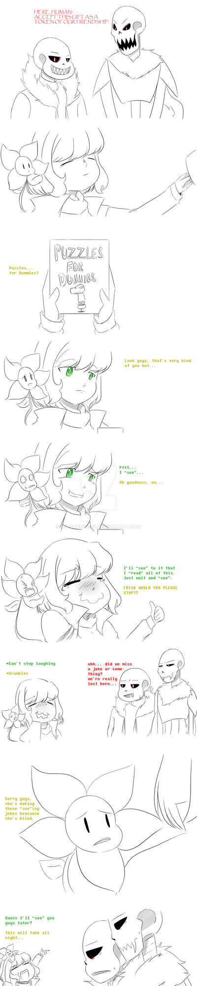 I see... *laughs* (UnderFell comic Part 1) by WarandCats