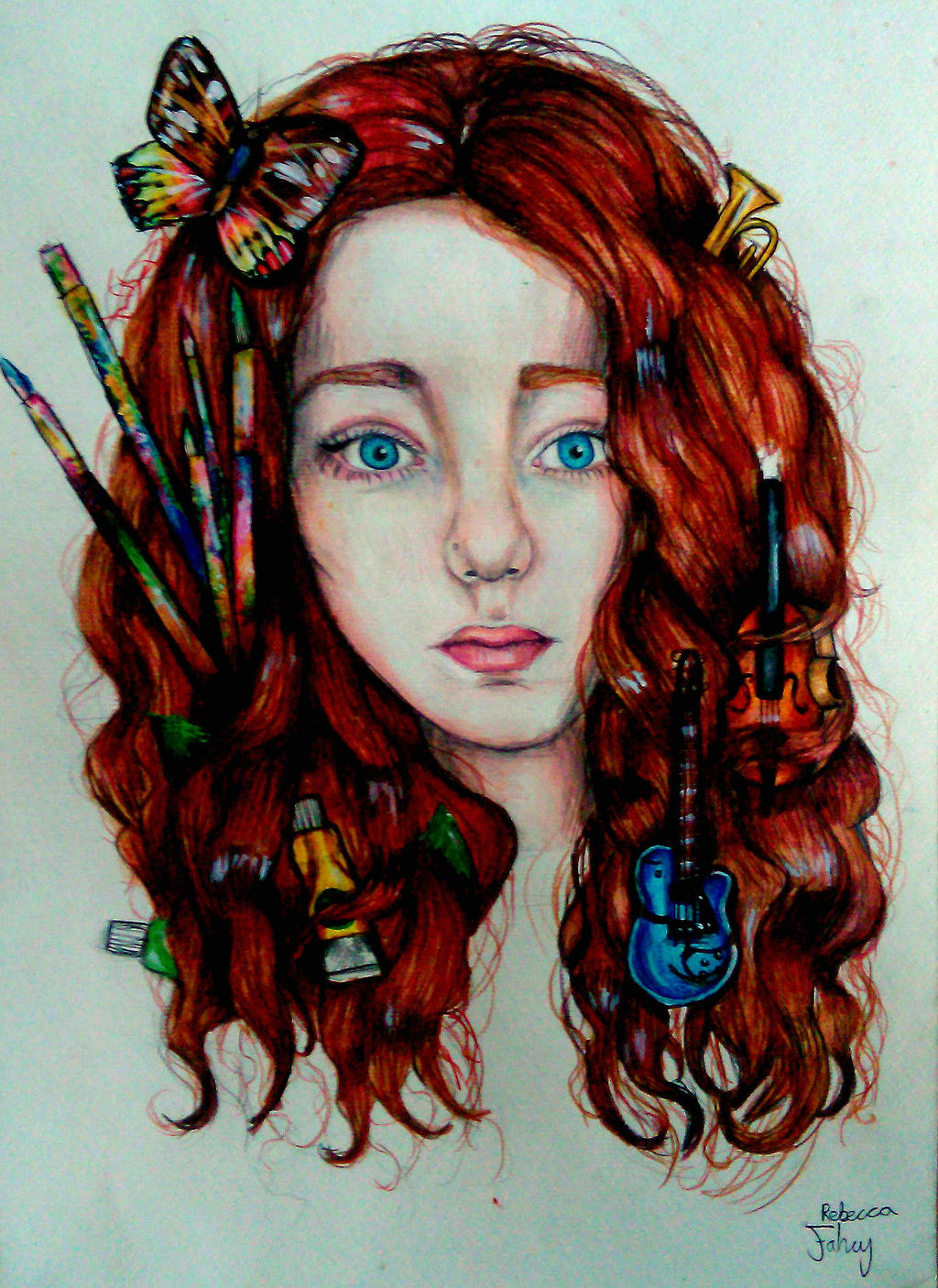 self portrait by Canthearmyeyes