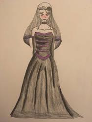 Elizabeth Barnes in her wedding dress(redraw) by ghastlywingz