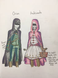 Orion and Andromeda Evona by ghastlywingz