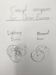 Concept weapons for Orion Evona(WIP?) by ghastlywingz