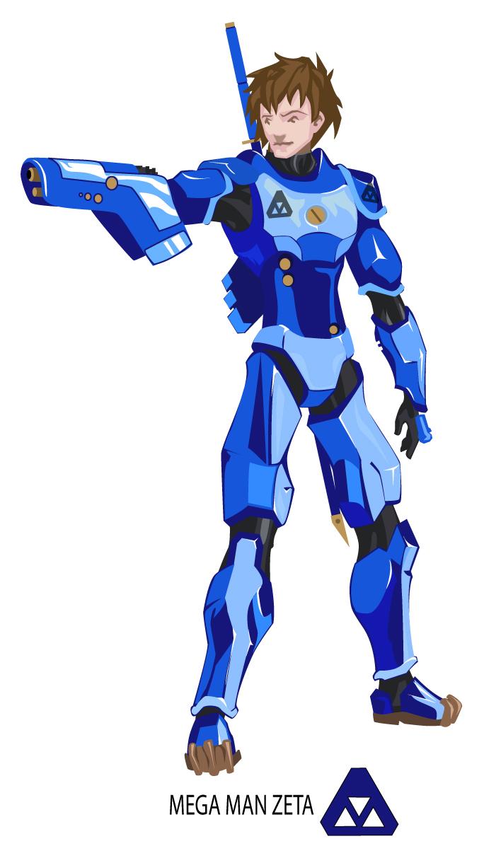 Mega Man Zeta by silentbackground