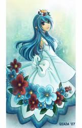 Flowerish Blue by Red-Priest-Usada