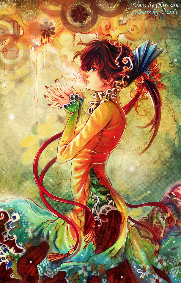 madame peacock anime illustration