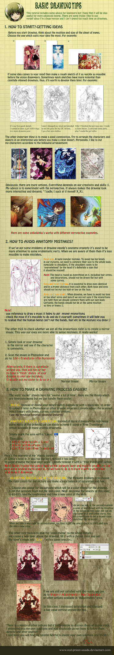 Tutorial: Basic drawing tips by Red-Priest-Usada