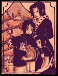 +Uchiha Family's Christmas+ by Red-Priest-Usada
