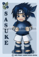 Chibi Fruit Ninja-Sasuke by Red-Priest-Usada