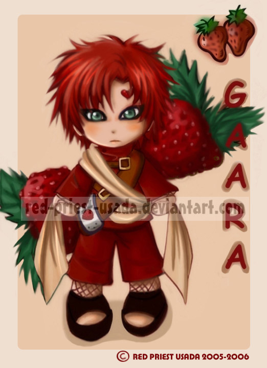 Chibi Fruit Ninja-Gaara by Red-Priest-Usada