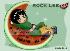Chibi Fruit Ninja-Rock Lee by Red-Priest-Usada