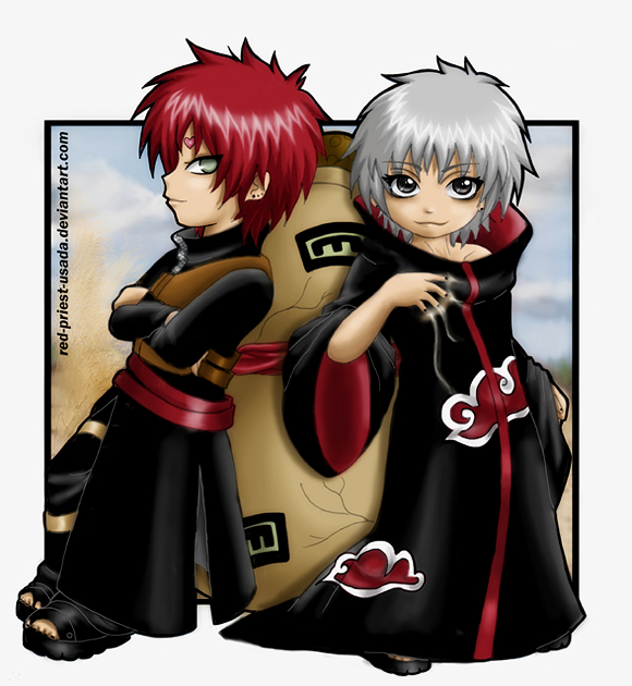 Gaara and Sasori-BLACK IS BACK by Red-Priest-Usada on ... Gaara Crying